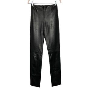 Michael Hoban North Beach Leather vintage 80s high rise pants size 2 tall black